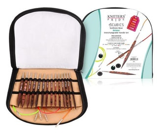 "Knitter's Pride - Cubics - 3.5"" or 4.5"" Interchangeable Needle Set 16"" Special or Deluxe"