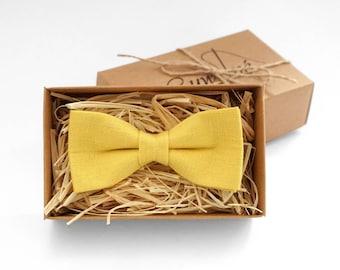 Yellow tie, yellow bow tie, yellow mes bow tie, bow ties for men, yellow wedding tie, yellow boys bow tie, bow ties for boys, kids bow tie