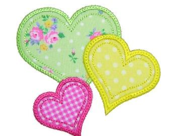 Valentine Applique, Valentine Embroidery, Heart Applique, Heart Embroidery, Valentine's Day, Machine Embroidery Design, Instant Download