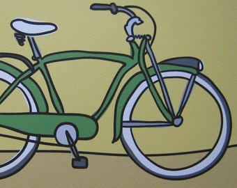 Green Bicycle - A Bike in the Transportation Series by Danielle J. Hurd