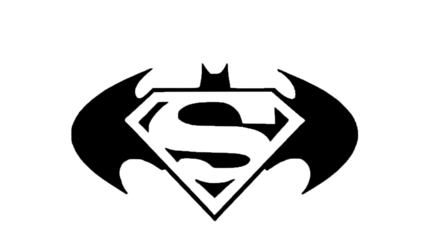 Batman Superman Logo Decal Batman Logo Decal Superman