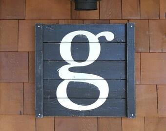 LARGE RUSTIC LETTER, 18 x 17.5, large wood letters, large rustic number, giant letter, large wood number, rustic letter, fixer upper decor