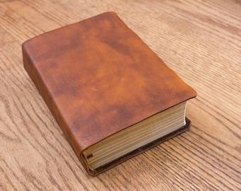 Full Grain Cowhide Leather Bible, ESV Study