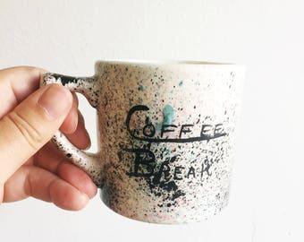 80's Coffee Break Mug with Frog