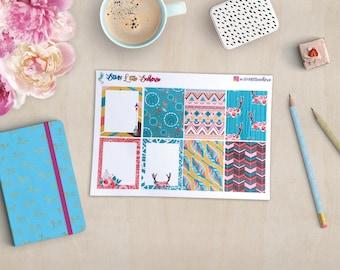 Boho Chic Weekly Kit, Tribal, Erin Condren Vertical Planner, Full weekly Kit