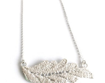 Lace Necklace - Leaf Necklace - Sterling Silver - Cast from Real Lace