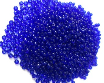 10gr dark glass 2mm (about 800 beads) Blue seed beads