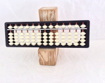 Abacus - Japanese Soroban - Geek Gift - Mathematics - classroom tool - Vintage Plastic  - Made in Japan - Druma trademark - collectible