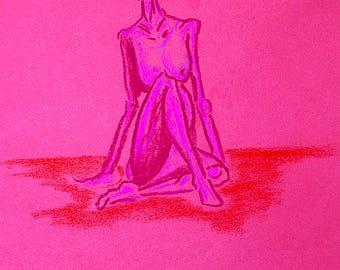 untitled seated female