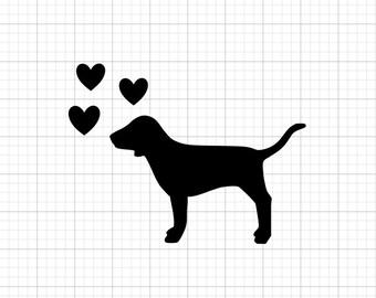 Dog Hearts - Iron On Vinyl Decal Heat Transfer