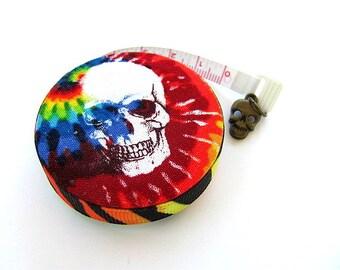 Measuring Tape Tie Dye Skulls Pocket Retractable Tape Measure
