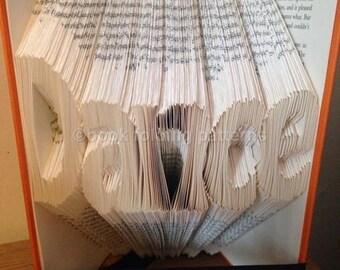 Dance word book folding pattern