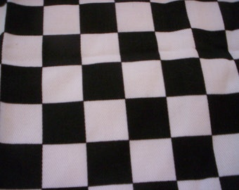 Checks fabric/Black and white fabric/Quilt fabric/Craft fabric/1/2 Yard/Checked fabric/Summer fabric/Cotton fabric/ Sewing supply/doll/mat