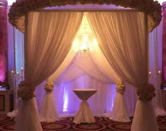 Wedding Drape Curtain Panel Double Layer 8 To 14 Feet Long X