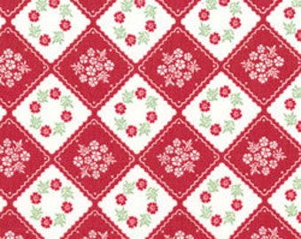 Diamond Patch in Red from Little Village by Kinkame for Clothworks