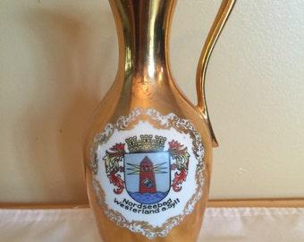Porcelain Pitcher Gold Plated Bavarian