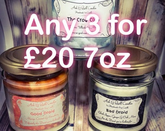 Your Choice of Any 3 jars | 7oz Bookish Candle | Soy Candle | Book Candle | Book Lover Gift | Scented Soy Candle