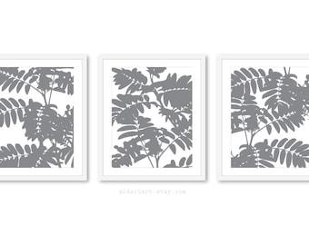 Palm Leaf estampes - feuilles Art mural - mur botanique Art - Set de 3 tirages - moderne Nature Home Decor - Aldari Art