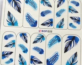 BOP-222 Nail Art Water Decal Nail Art Water Transfer Sticker DIY Nail Art