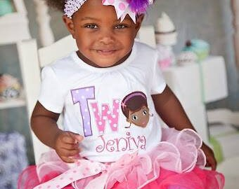 Pinks and Purple Doc Birthday Tutu Outfit 1st 2nd Birthday free personalization 6m-4t