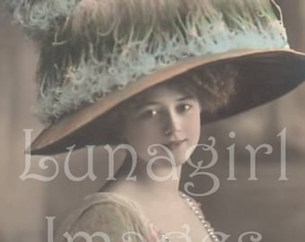 LADIES PHOTOS, 1000 vintage images, Victorian Edwardian 1920s women showgirls flappers steampunk French postcards, digital ephemera DOWNLOAD