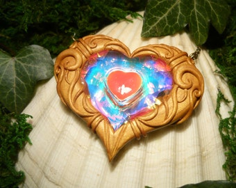 "Heartcontainer- Zelda: The Twilight Princess - Heart Heartpiece handmade Pendant - ""Made to Order"""
