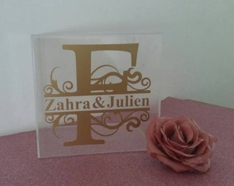 Decals for Personalize  wedding box ,Custom decals for wedding  box, Card Box ,  Bridal Shower Box , Wedding Guest Book, Wedding Mail Box .