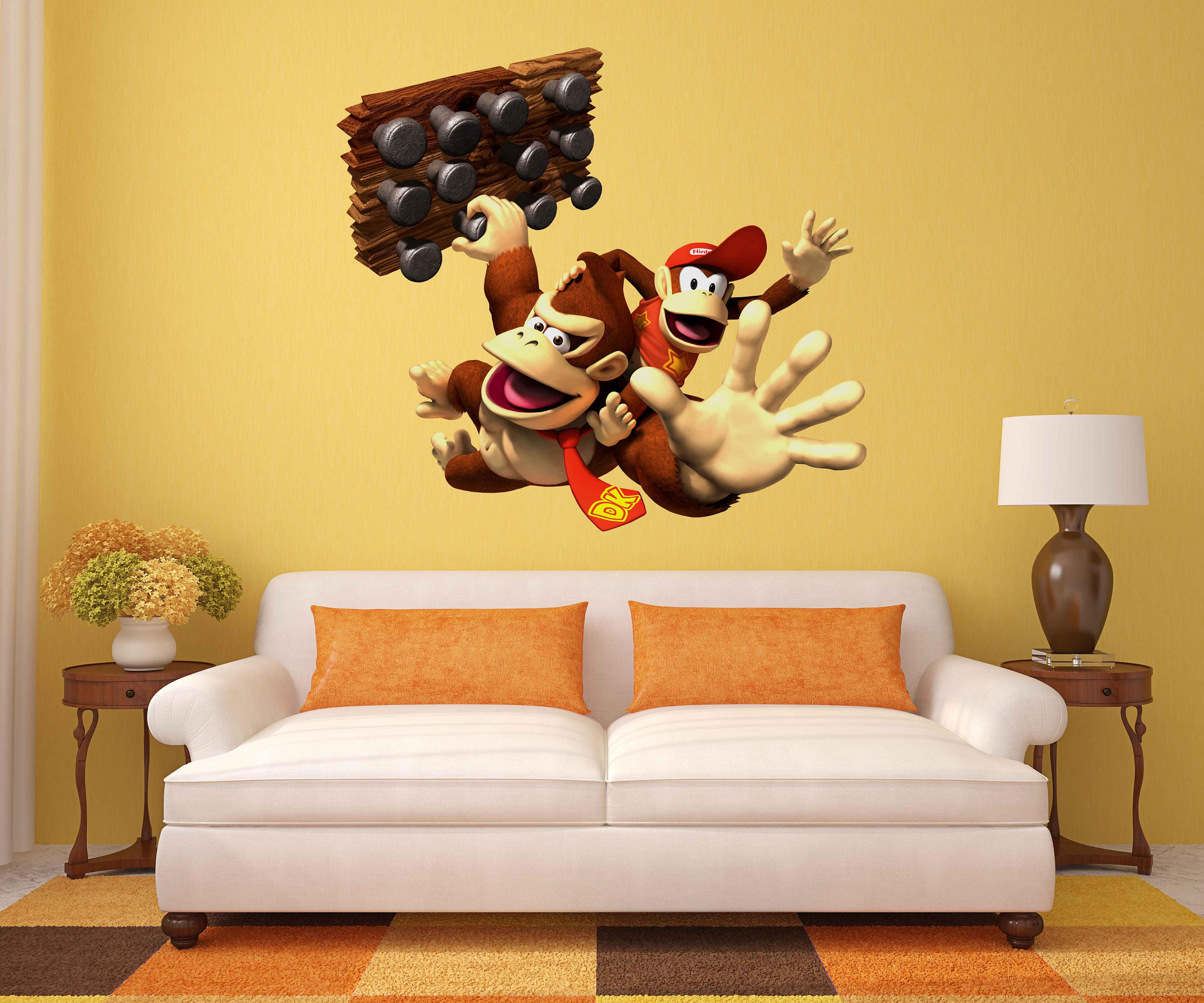Donkey Kong Decals Diddy Kong Game Room Vintage Nintendo