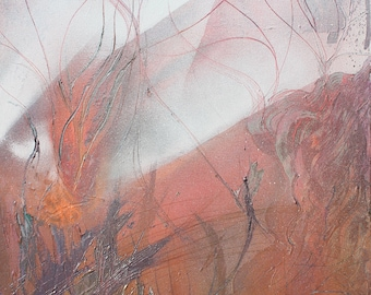 Energy Within The Volcano - Original painting