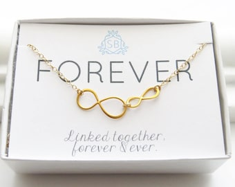 Gift For Daughter • Linked Infinity Necklace • Eternity Charm • Infinity Jewelry • Eternal Love • Friends Forever • Best Friend Gift