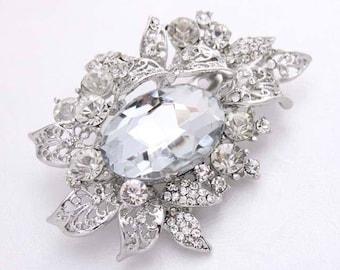 Crystal Rhinestone Brooch, Bouquet Brooches, Bridal Brooch, Crystal Wedding Brooches, Dress Sash Brooch, Cake Brooch, Vintage Wedding Pins