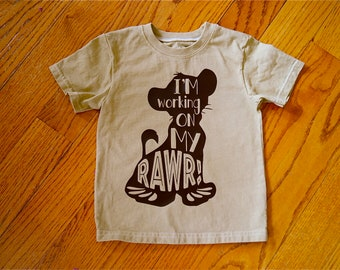 "Disney Lion King Inspired Simba bodysuit; Baby Boy ""I'm working on my roar"" baby shirt; baby Simba shirt; Coordinating Disney shirts"