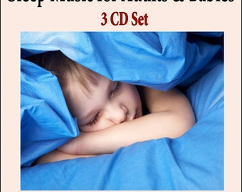 "Sleep Music for Adults & Babies ""3 CD SET"" (Music for Sleeping, Babies Bedtime, Baby Lullabies and Adults Deep Sleep)"