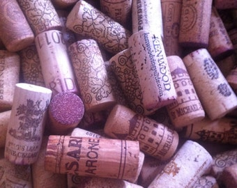 50 used Wine corks  / recycled corks /  natural corks .