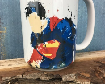 Superman 15oz Mug - Dishwasher & Microwave Safe