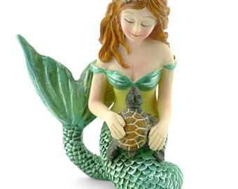 Miniature Fairy Garden Mermaid With Turtle