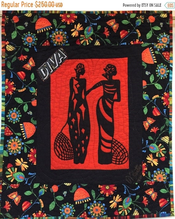 Hot Summer Sale A Woman of Sophisticated Substance #10 art quilt
