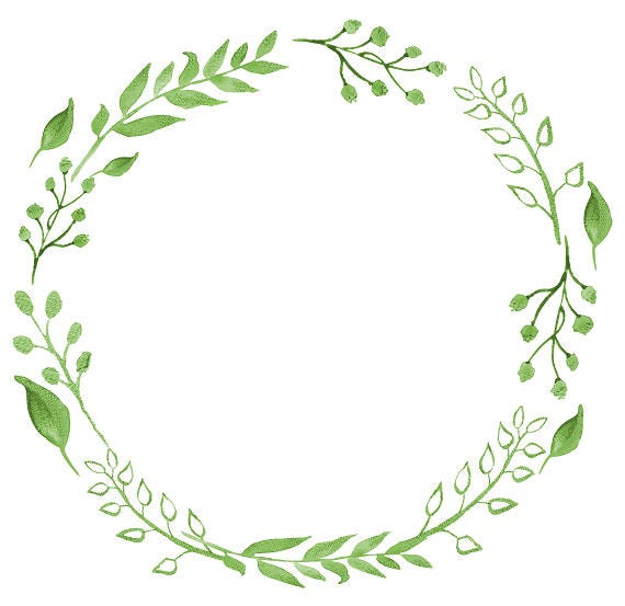 greenery clipart watercolor wreath watercolor clipart rh etsy com wreath clip art images wreath clip art free black and white