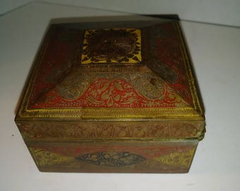 Chinese Brass Trinket Box (103)