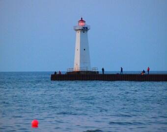 Sodus Point  lighthouse NY 8x10 or 5x7 Fine Art Print  Digital Photography