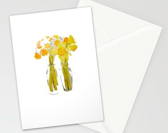 Blank Note Cards, Daffodils, welcome Spring