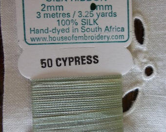 House of Embroidery collar CYPRESS 50 2mm Silk Ribbon