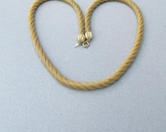 Vintage Signed TRIFARI Twisted Four Strand Mesh Rope Necklace