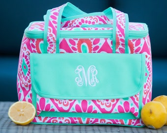 Beachy Keen Monogrammed Cooler Bag, Personalized Summer Cooler Bag