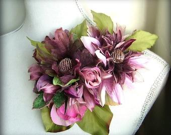 Fleur de Belle - OOAK brooch/hairclip - Ready to ship xx