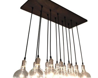 Urban Chic Chandelier With Exposed Bulbs - Kitchen Lighting, Modern Chandelier