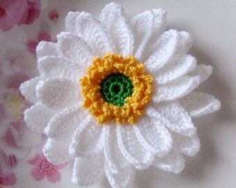 Larger Crochet Flower in 3-1/2 inches YH-042