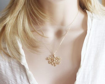 Tree of Life Necklace Gold Tree Of Life Necklace