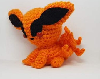 READY TO SHIP - Kurama Crochet amigurumi - Naruto inspired