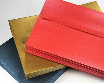 25 - A10 Metallic Straight Flap Envelopes - 6 x 9 1/2